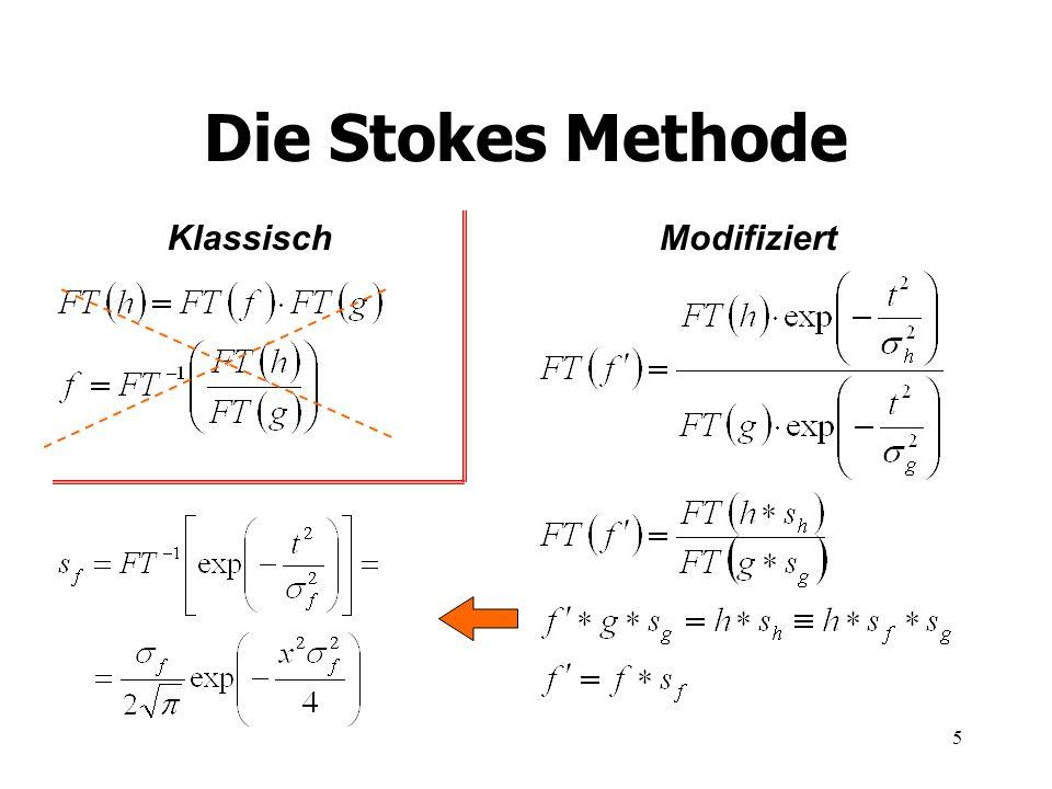 Die Stokes Methode Klassisch Modifiziert