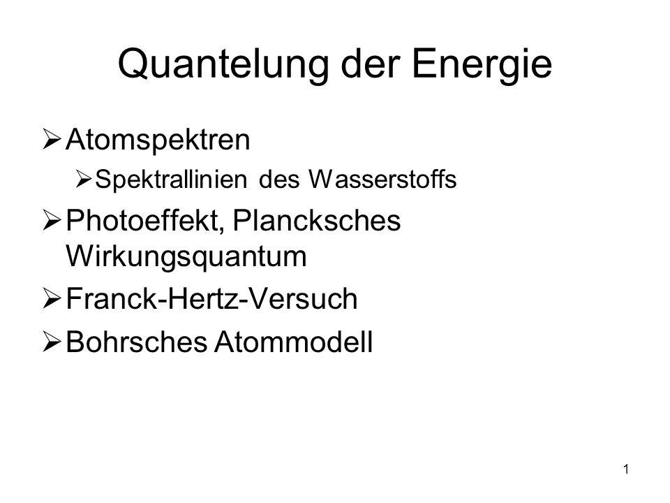 Quantelung der Energie
