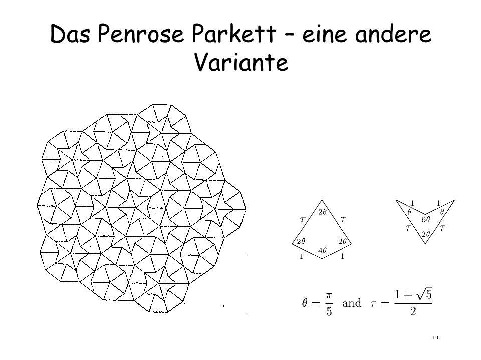 Das Penrose Parkett – eine andere Variante