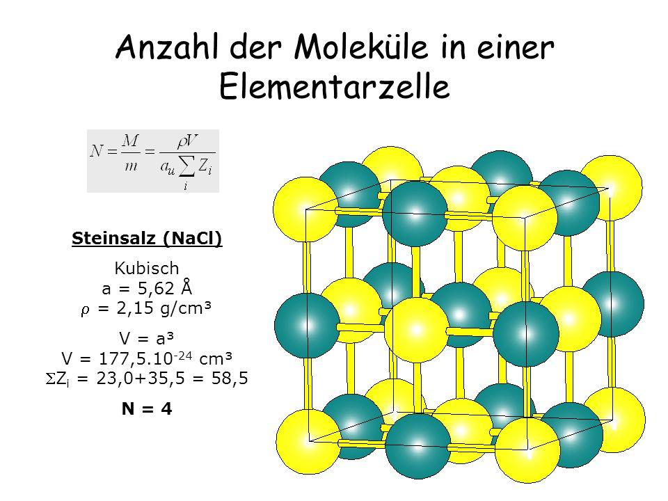 Anzahl der Moleküle in einer Elementarzelle