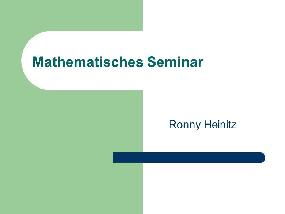 Mathematisches Seminar
