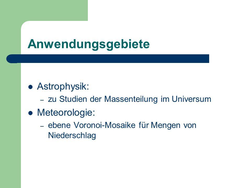 Anwendungsgebiete Astrophysik: Meteorologie: