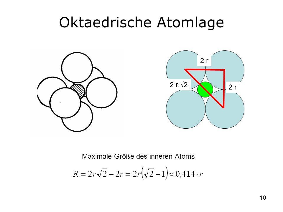 Oktaedrische Atomlage
