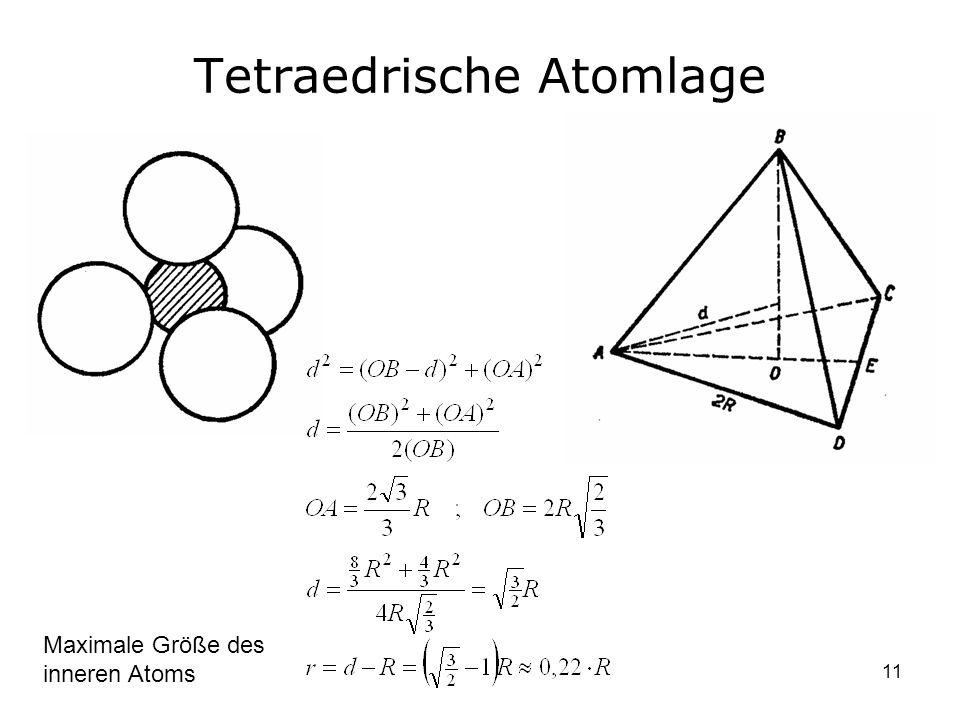Tetraedrische Atomlage
