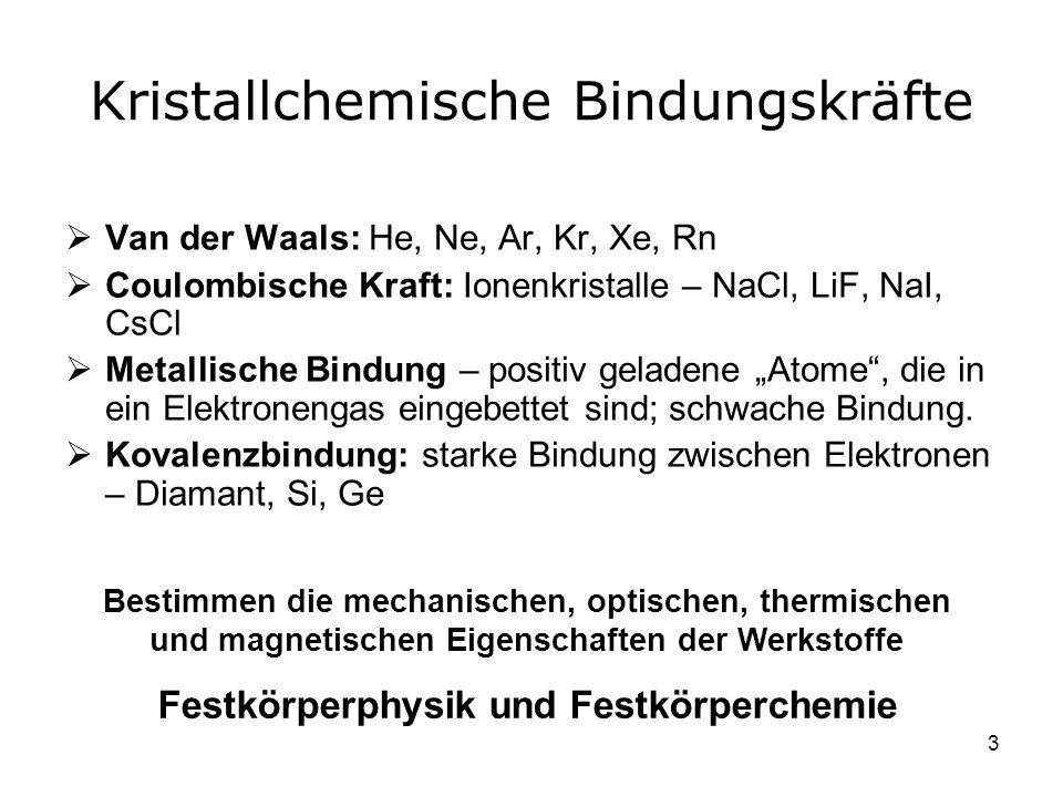 Kristallchemische Bindungskräfte