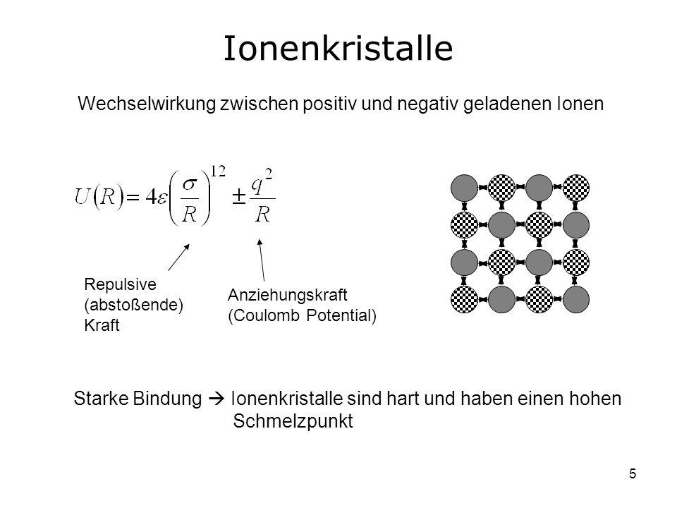 Wechselwirkung zwischen positiv und negativ geladenen Ionen