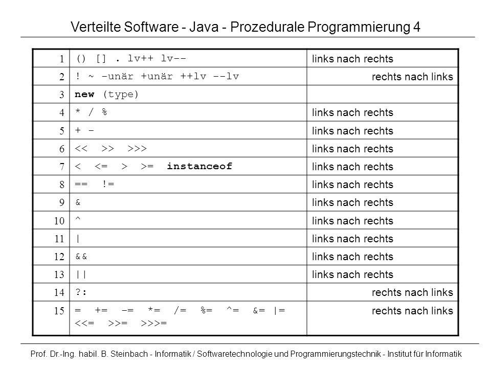 Verteilte Software - Java - Prozedurale Programmierung 4