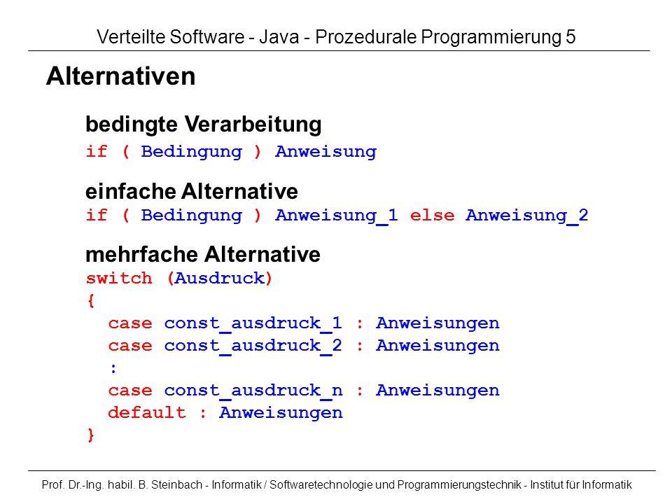 Verteilte Software - Java - Prozedurale Programmierung 5
