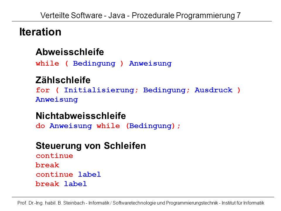 Verteilte Software - Java - Prozedurale Programmierung 7
