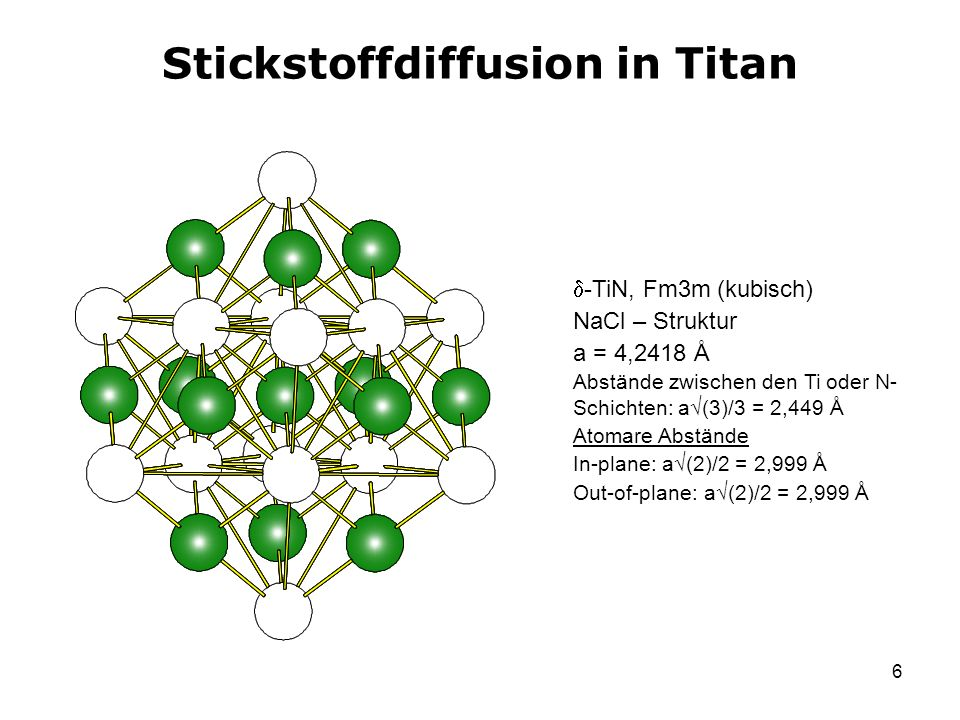 Stickstoffdiffusion in Titan