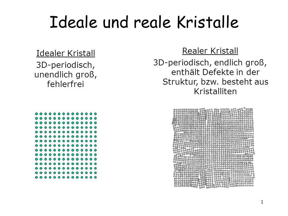 Ideale und reale Kristalle