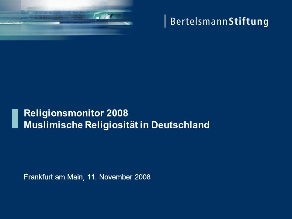 Religionsmonitor 2008 Muslimische Religiosität in Deutschland