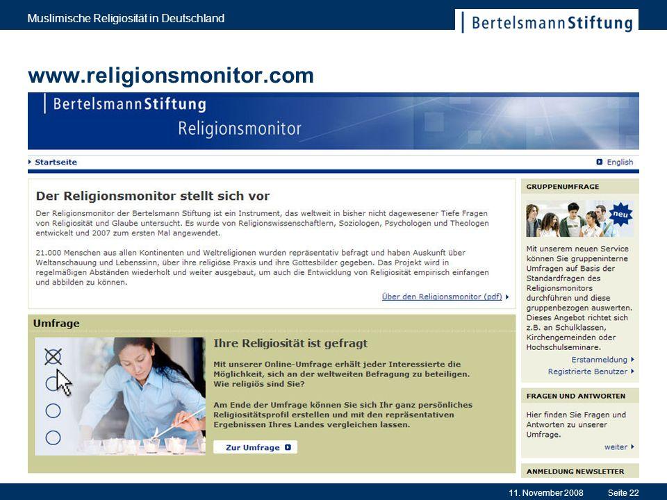 www.religionsmonitor.com Muslimische Religiosität in Deutschland