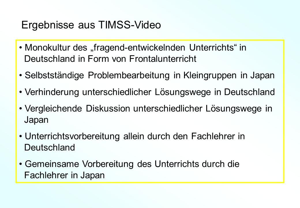 Ergebnisse aus TIMSS-Video