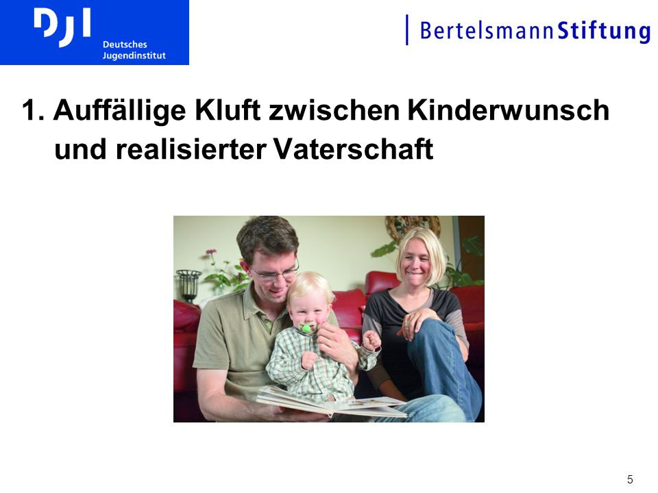 1. Auffällige Kluft zwischen Kinderwunsch und realisierter Vaterschaft