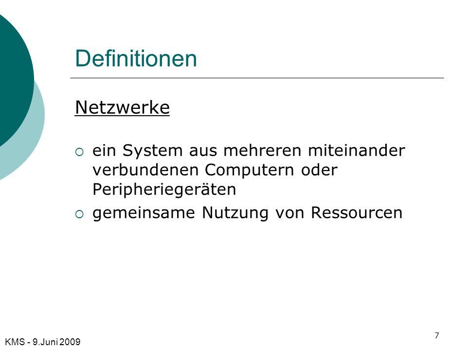 Definitionen Netzwerke