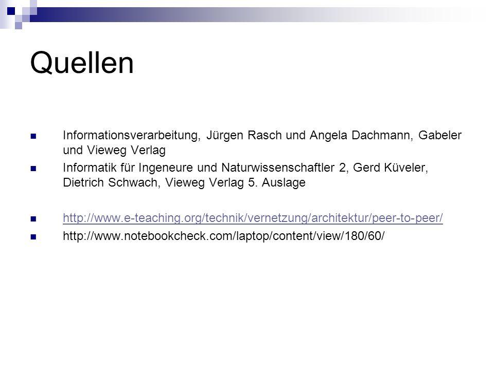 Quellen Informationsverarbeitung, Jürgen Rasch und Angela Dachmann, Gabeler und Vieweg Verlag.