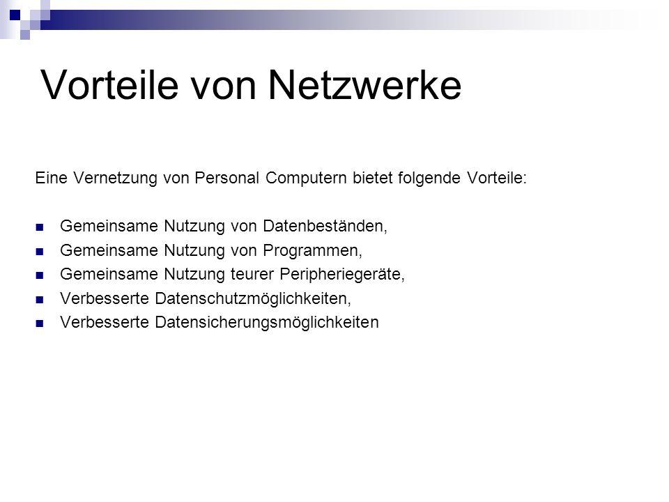 Vorteile von Netzwerke