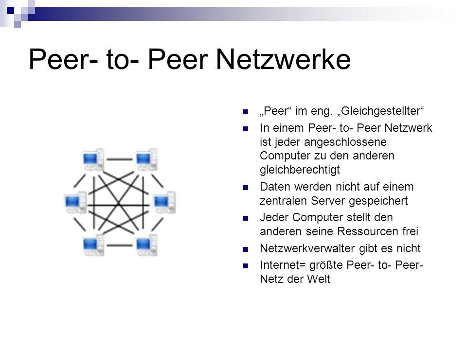 Peer- to- Peer Netzwerke