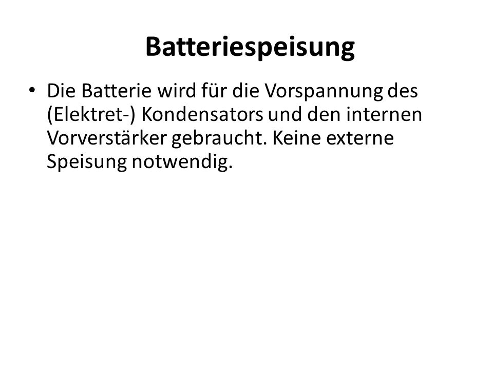 Batteriespeisung