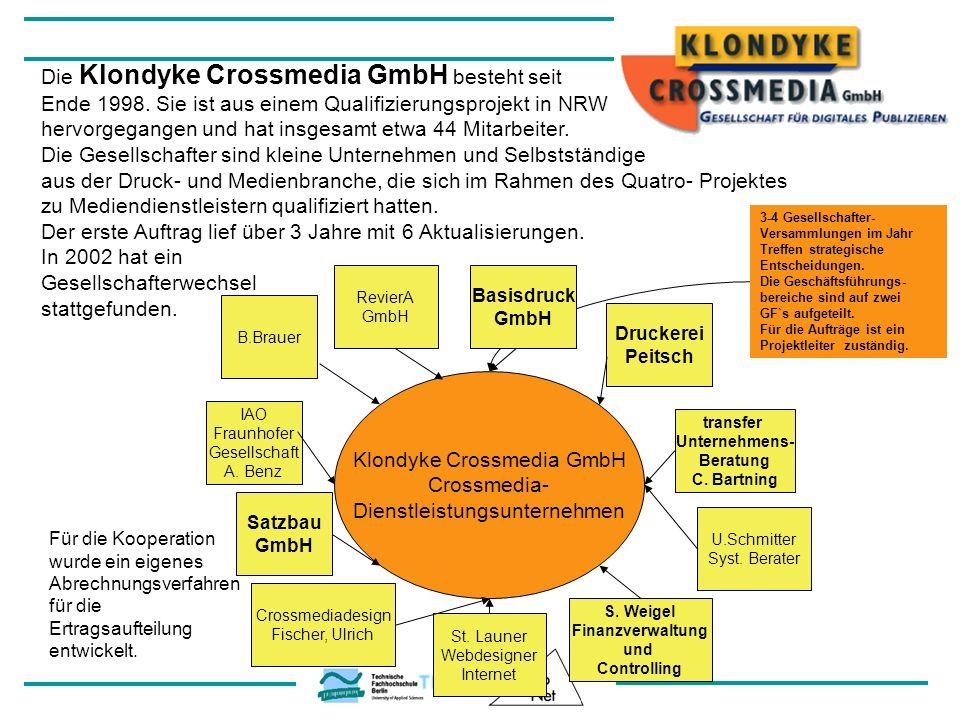 Die Klondyke Crossmedia GmbH besteht seit