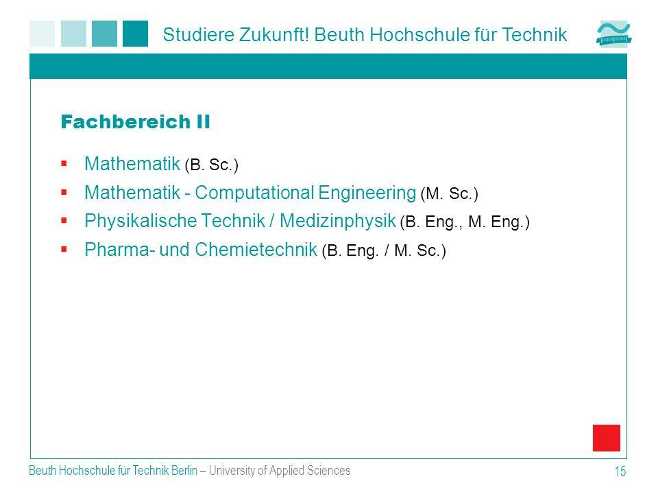 Fachbereich II Mathematik (B. Sc.)