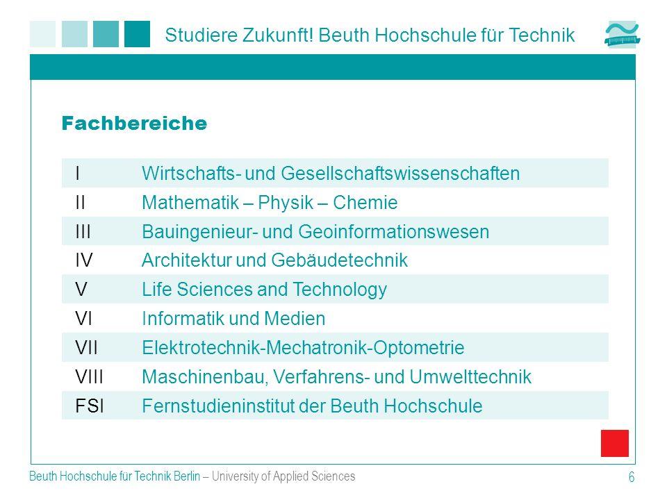 Fachbereiche I Wirtschafts- und Gesellschaftswissenschaften