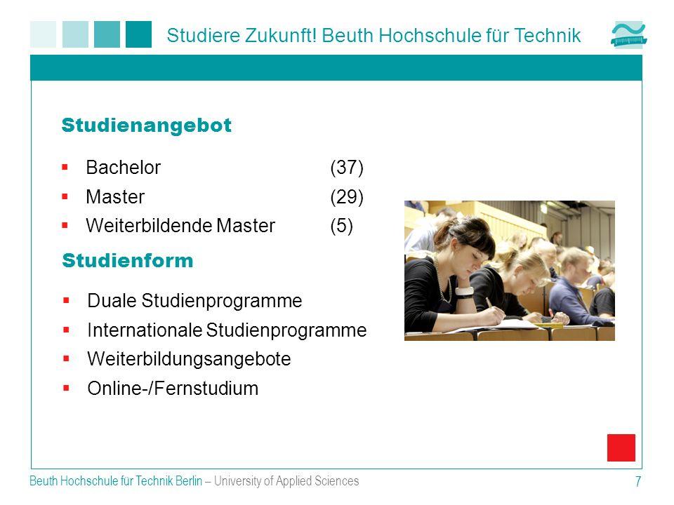 Studienangebot Studienform Bachelor (37) Master (29)