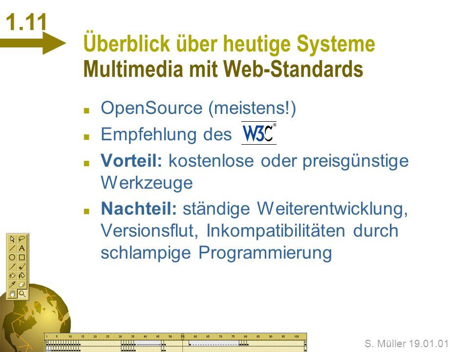 Überblick über heutige Systeme Multimedia mit Web-Standards