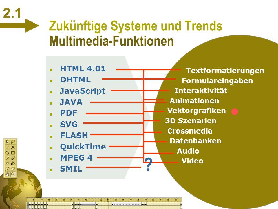 Zukünftige Systeme und Trends Multimedia-Funktionen