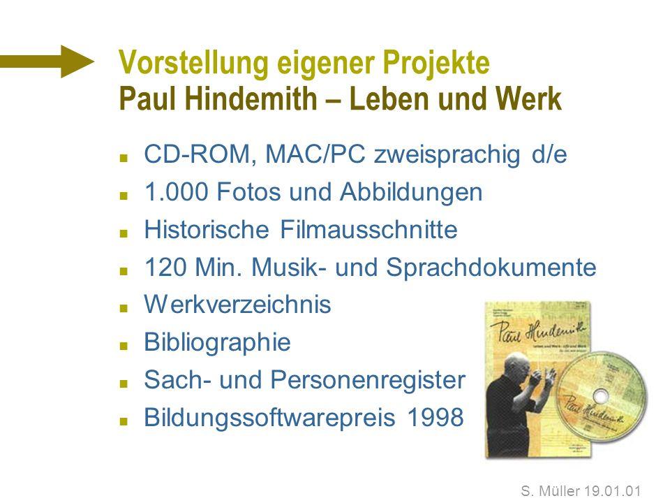 Vorstellung eigener Projekte Paul Hindemith – Leben und Werk