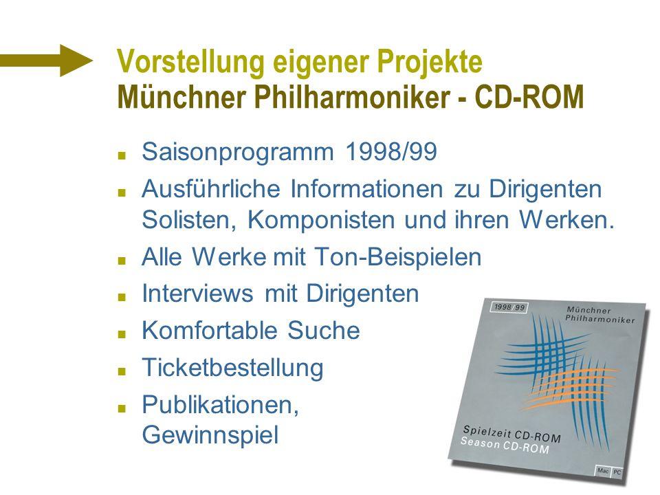 Vorstellung eigener Projekte Münchner Philharmoniker - CD-ROM