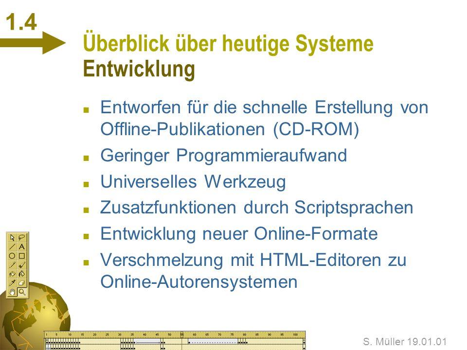 Überblick über heutige Systeme Entwicklung