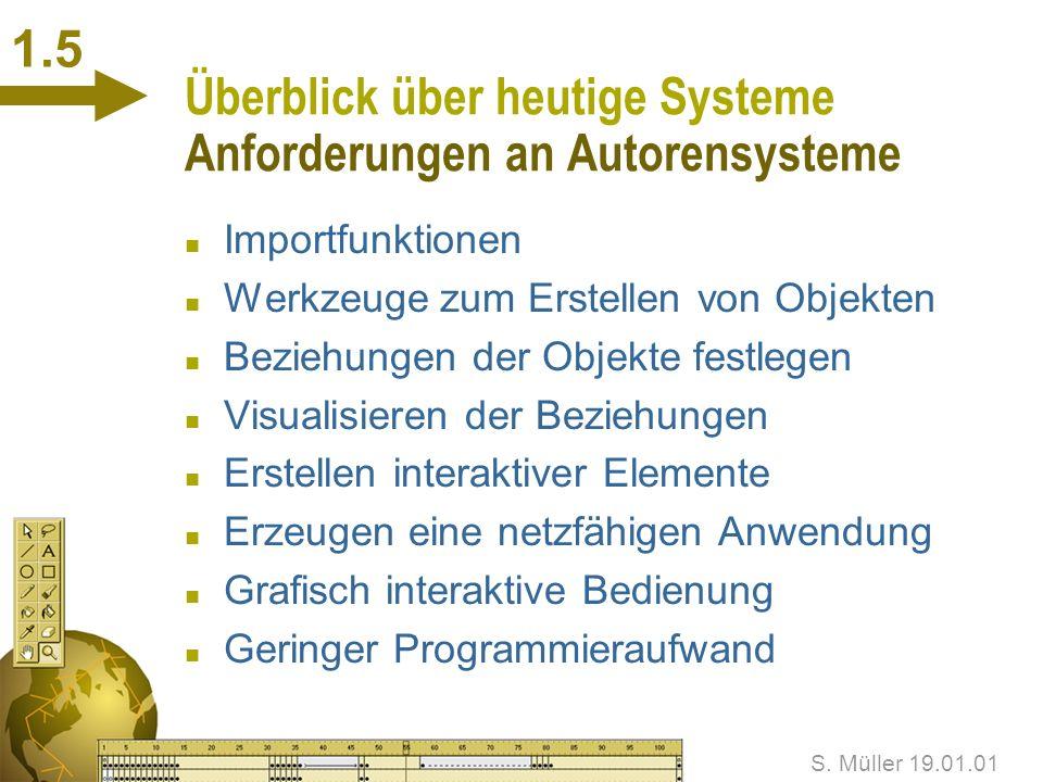 Überblick über heutige Systeme Anforderungen an Autorensysteme