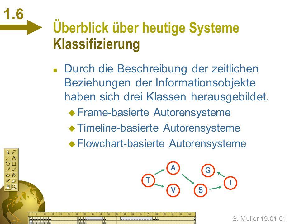 Überblick über heutige Systeme Klassifizierung