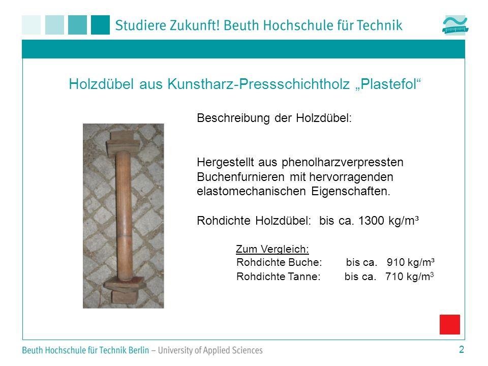 """Holzdübel aus Kunstharz-Pressschichtholz """"Plastefol"""