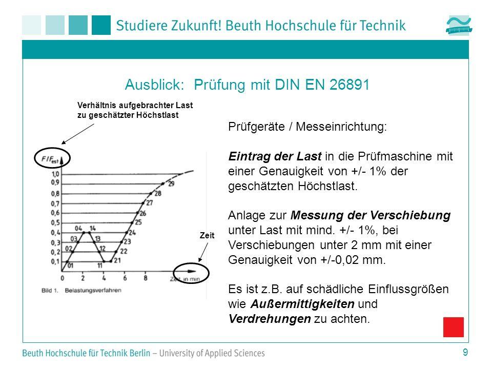 Ausblick: Prüfung mit DIN EN 26891