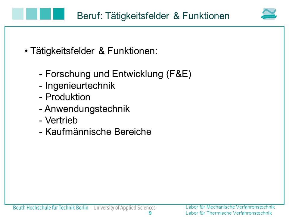 Beruf: Tätigkeitsfelder & Funktionen