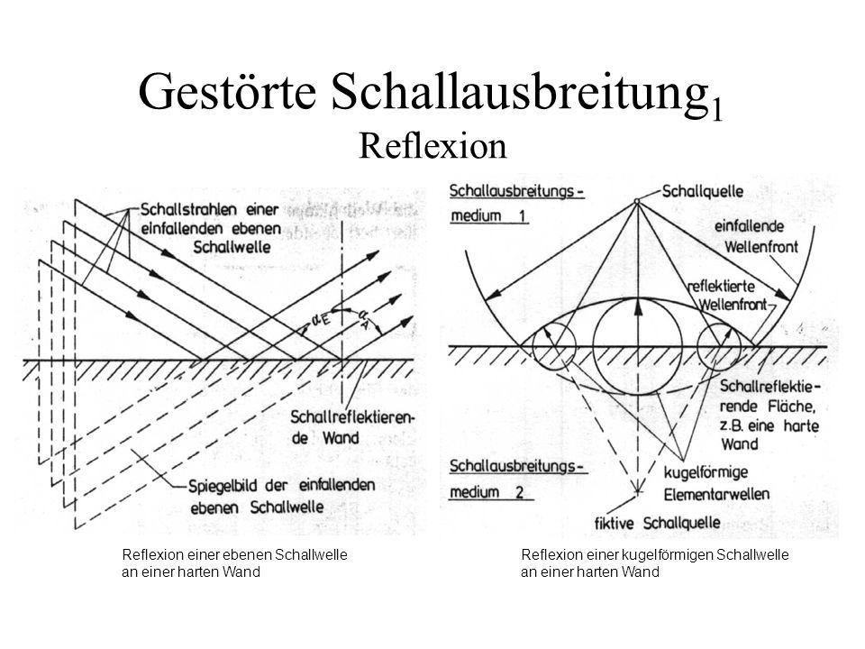Gestörte Schallausbreitung1 Reflexion