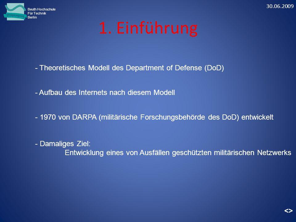 1. Einführung - Theoretisches Modell des Department of Defense (DoD)