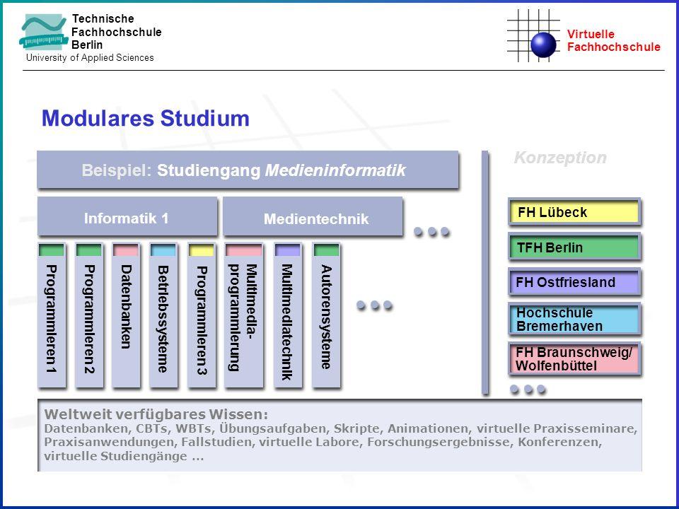 Modulares Studium Konzeption Beispiel: Studiengang Medieninformatik