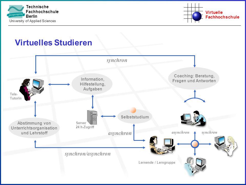 Virtuelles Studieren synchron asynchron synchron/asynchron