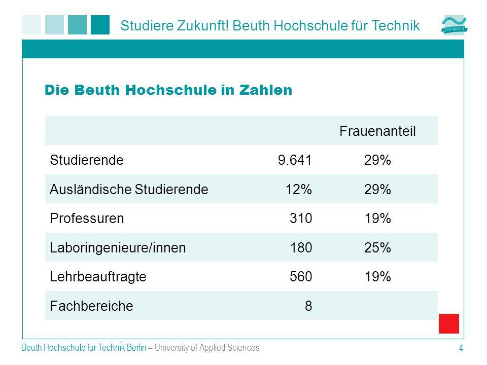 Die Beuth Hochschule in Zahlen