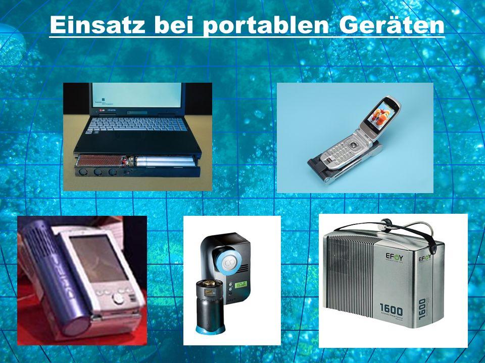 Einsatz bei portablen Geräten