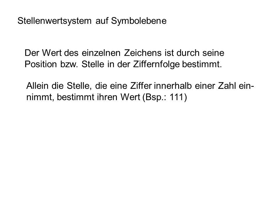 Stellenwertsystem auf Symbolebene