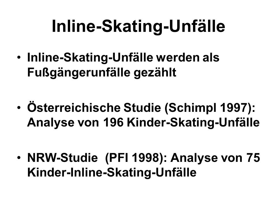Inline-Skating-Unfälle