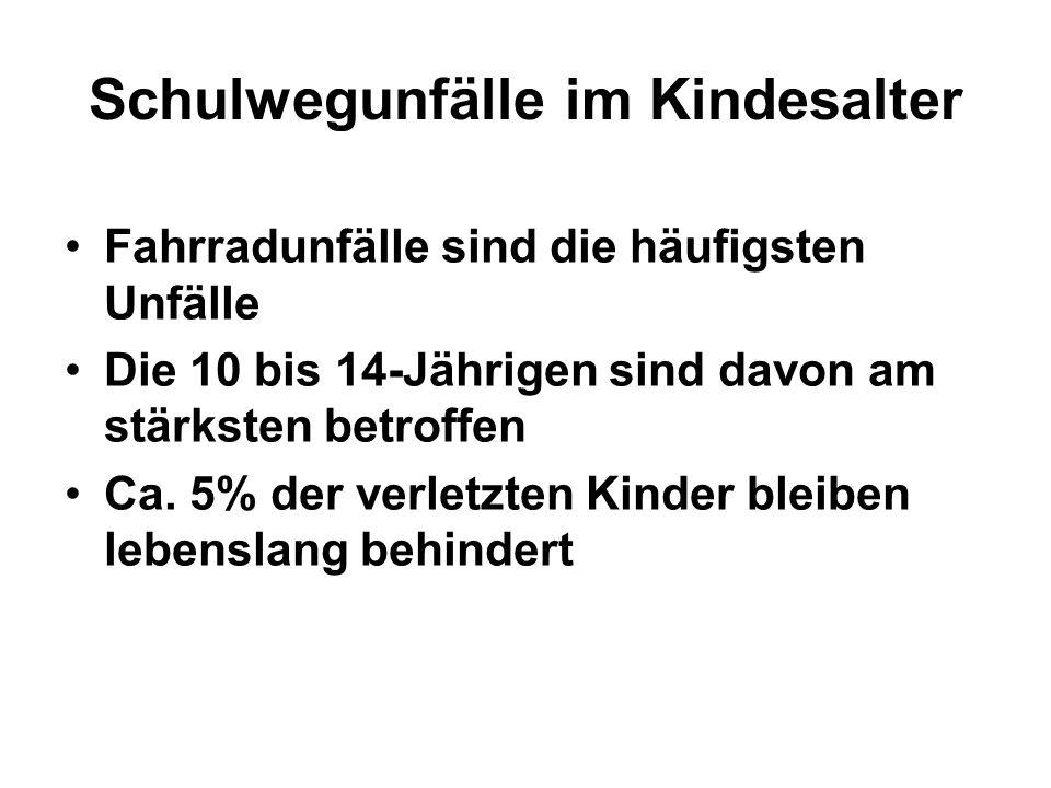 Schulwegunfälle im Kindesalter