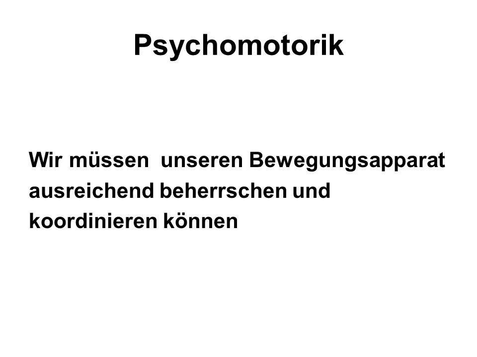 Psychomotorik Wir müssen unseren Bewegungsapparat