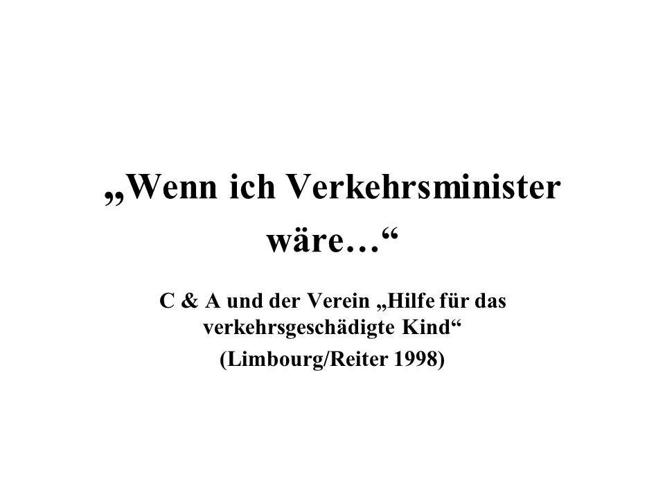 """Wenn ich Verkehrsminister wäre…"