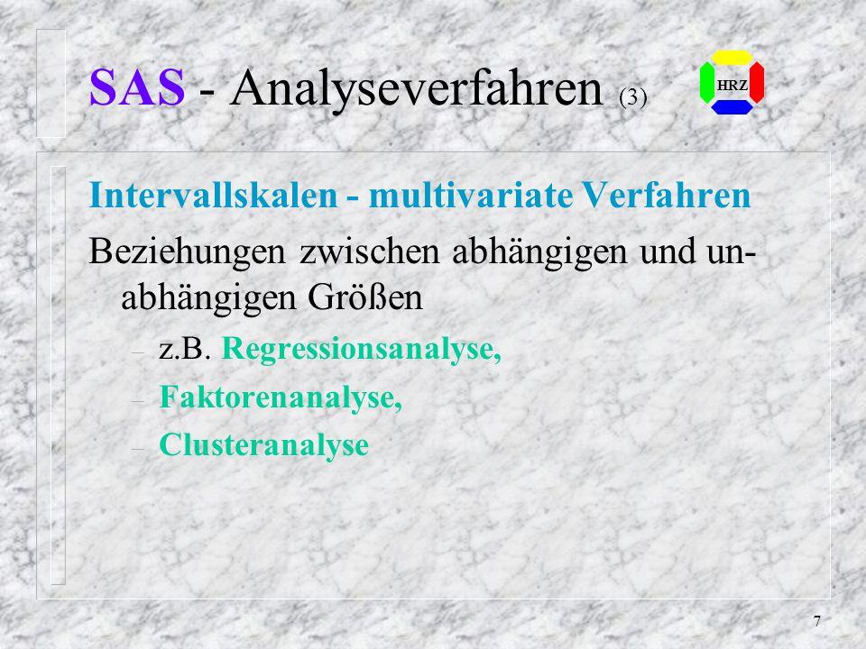 SAS - Analyseverfahren (3)